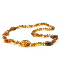 N168 Adult Cognac Amber Necklace