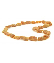 N153 Raw Cognac Amber Adult Necklace