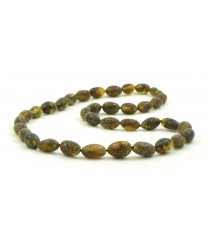 N197 Adult Raw Green Amber Necklace
