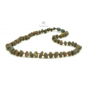 M7 Raw Baroque Amber Men Necklace