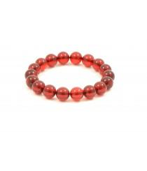 Red Round Amber Adult Bracelets W175