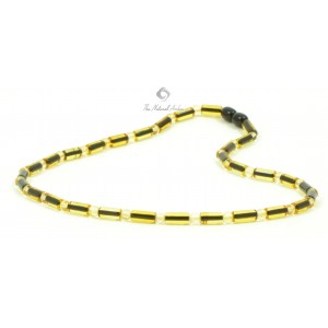 M12 Champagne and Lemon Amber Men Necklace