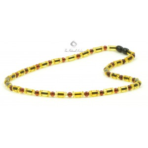 M13 Champagne, Lemon and Cherry Amber Men Necklace