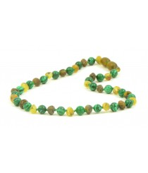 Amber And Chrysacola Teething Necklaces B35