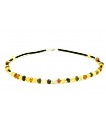Adult Necklace with Baroque Amber Beads
