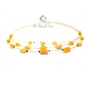 Adult Raw Lemon Amber Necklace N139