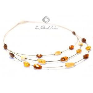 Adult Multicolor Amber Necklace N140
