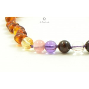 Amber Gemstone Necklace Teething