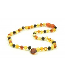 B20 Baltic Amber and Quartz Mix Teething Necklaces