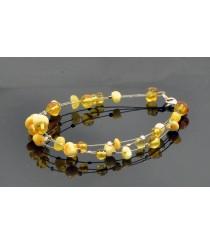 Baltic Amber Bracelet Skull Death