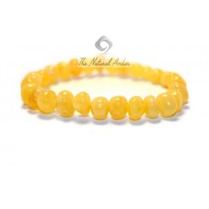 Milky Baroque Amber Bracelet L2-2B