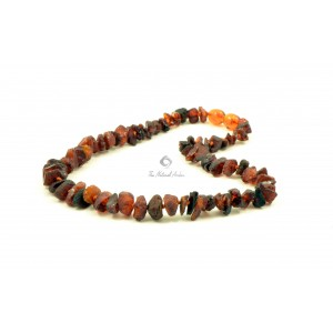 Baltic Amber Chip Teething Necklace Cognac color B11-8C