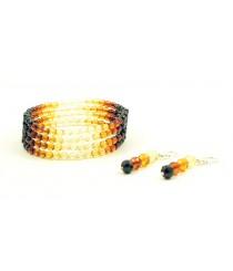 Amber Necklace and Bracelet Set