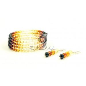 Amber Necklace and Bracelet Set