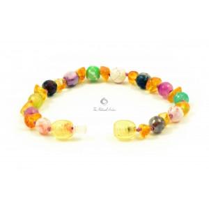 baltic amber gemstone teething bracelet