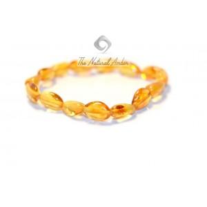 Bean (Olive) Amber Adult Bracelets L7