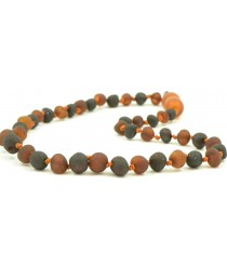 Baltic Amber Teething Necklace, Raw Baroque B5