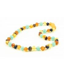 Amber and Aquamarine Mix Baby Necklaces B21