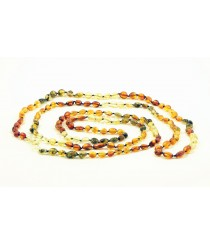 Long Multicolor Olive (Bean) Necklace A33-1O