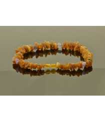Amber Pet Collar with Leather Strap