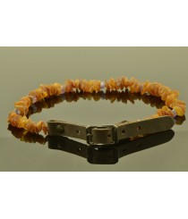 Amber and Gemstone Pet Collars with Leahter Strap P111