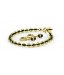 Avanturine Amber Bracelet With Pendant W196