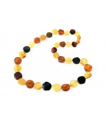 Big Amber Tablet Multi Color Necklace N208