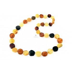 Big Amber Tablet Multi Color Necklace N208