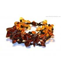 W121 Amber Chips Bracelets