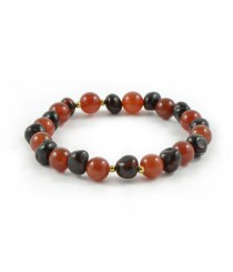 L17 Amber And Agate Mix Adult Bracelets