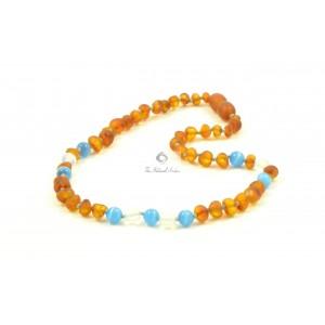Amber Gemstone Necklace Teething