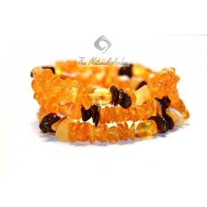 Multicolor Olive Amber Bracelet W123