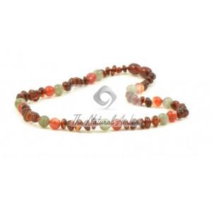 Amber Labradorite Teething Necklaces