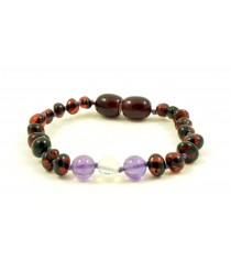 Baltic Amber and Opalite Teething Bracelets S30