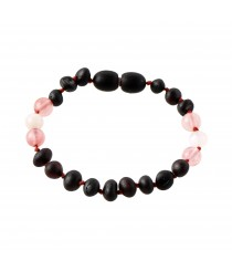 Amber and Moonstone Teething Bracelet S13-Q16