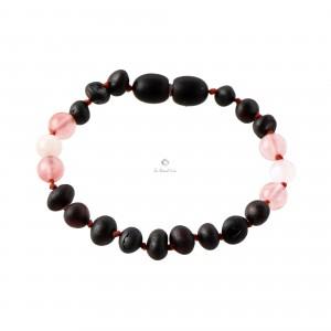 Amber and Moonstone Teething Bracelet