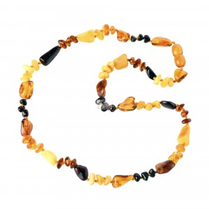 Multi Color Baltic Amber Necklace