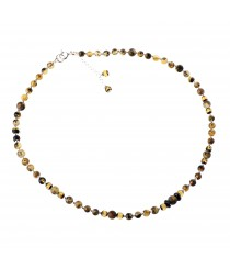 Delicate Green Amber Necklace with 2 small pendants NF6