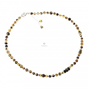 Delicate Green Amber Necklace with Gold Plated Chain and Pendant NF5
