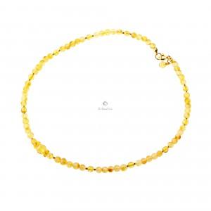 Raw Lemon Amber Necklace