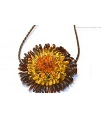 Flower Amber Pendant P152