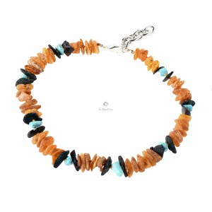 Amber and Gemstone Pet Collars on Adjustable Chain P113