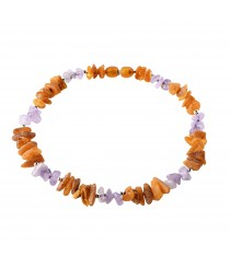 Amber Silver and Gemstones Pet Collars with Screw Clasp P115