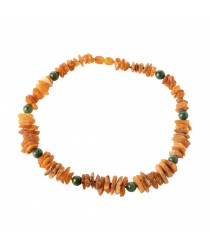 Amber and Gemstones Pet Collars with Screw Clasp P118