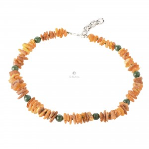 Amber and Gemstone Pet Collars With Adjustable Chain P119