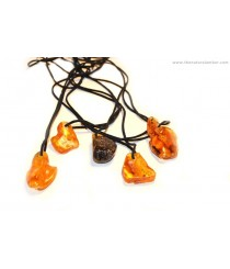 Polished Amber Pendant P162