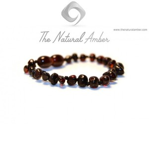 Cherry Polished Baroque Amber Beads Baby Bracelet-Anklet