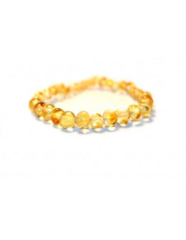 Champagne Polished Baroque Amber Beads Baby Bracelet-Anklet