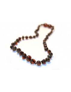Cherry Polished Baroque Amber Beads Baby Necklace