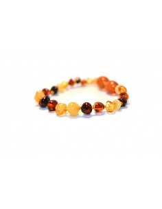 Multi Polished Baroque Amber Beads Baby Bracelet-Anklet